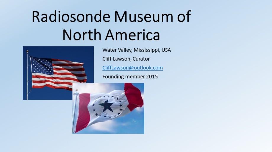 Radionsonde museum flag Sept 2018